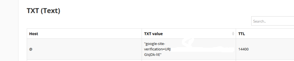 add the txt record in your dns provider