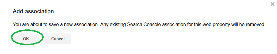 confirm association of console with analytics