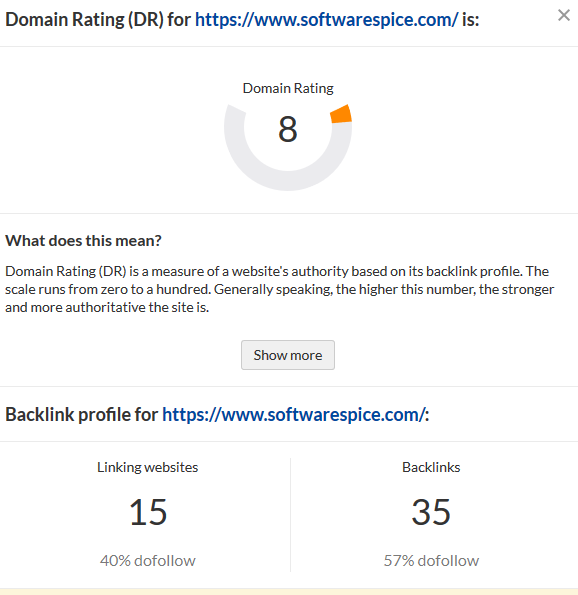 domain authority of blog