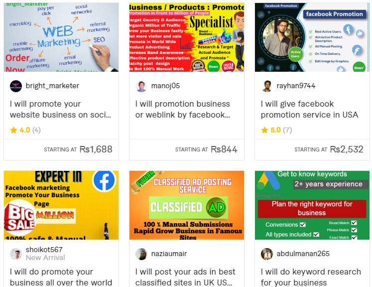 promote business on social media with Fiverr