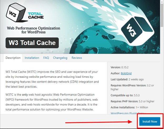 w3 total cache settings for wordpress