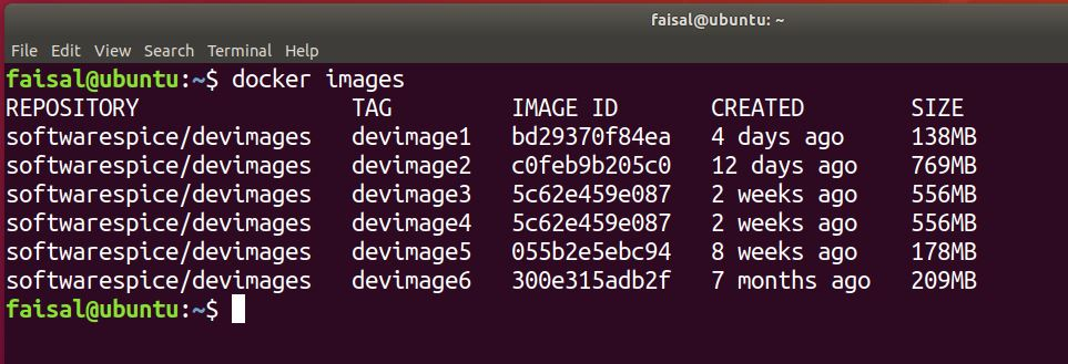 docker images with all tags