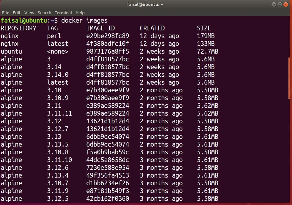 how to pull a docker image with all tags