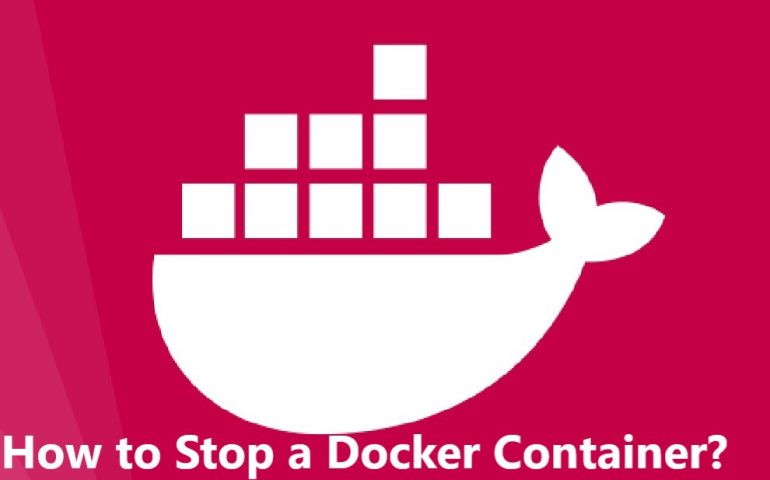 how to stop a docker container